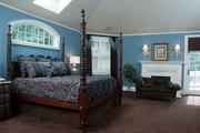 One of the bedrooms at the Schilling mansion.