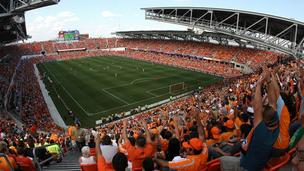 BBVA Stadium in Houston could be the model for a new Revolution venue in Somerville or Revere.