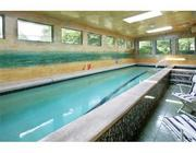 The lap pool in the Dershowitz Cambridge home.