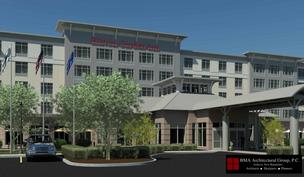 Hilton Garden Inn to be built in East Boston has received initial design approval.