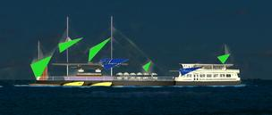 Artist's rendering of the proposed floating restaurant