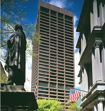 The trophy tower at One Beacon Street has been pulled off the market.