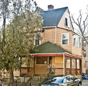 A foreclosed home in Boston's Dorchester neighborhood.