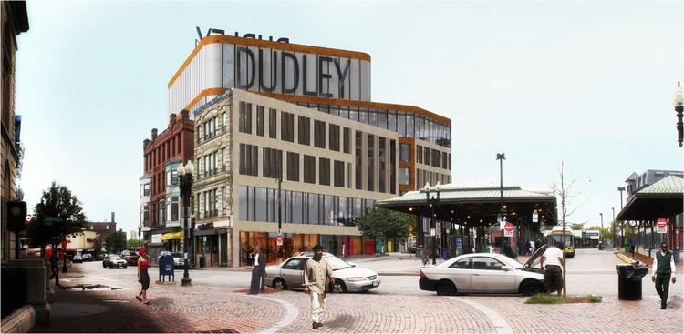 Rendering of the new Ferdinand Municipal Building in Roxbury's Dudley Square.