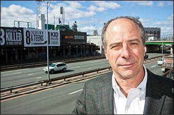 John Rosenthal at the proposed site of Fenway Center.