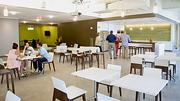 The dining area at the new location of Allen & Gerritsen.