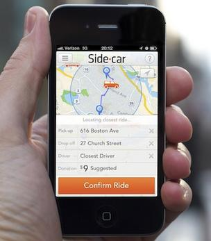 Ridesharing app SideCar launched in Boston on Friday.