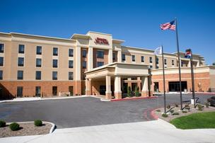 The Hampton Inn & Suites chain is part of Hilton Worldwide. The hotel in the photo is in Columbia, Mo.
