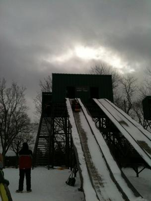 Erie County officially opened the historic toboggan chutes at Chestnut Ridge Park at the end of December.