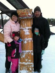 Elizabeth Carey is sharing the WNY pastime of tobogganing with her children, who recently enjoyed their first toboggan run.