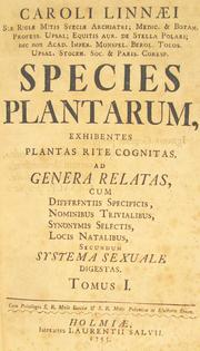 "Carl Linnaeus (1707 - 1778) was a Swedish botanist, physician and zoologist who established a viable classification for plants and animals. He's represented here with the title page of ""Species planetarum,"" (The Species of Plants) in 1753, which formalized the binomial nomenclature still used by botanists today. The book listed all the species of plants known to Linnaeus, either from personal experience or through his reading."