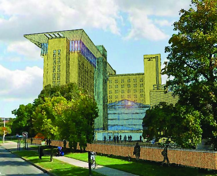 Artist's rendering of the Chason project at the site of Millard Gates Hospital.