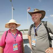 Visitors from far away as Australia like Colin and Roslyn Diachkoff took in Wallenda's walk.