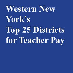 These are Western New York's top 25 districts for teacher pay