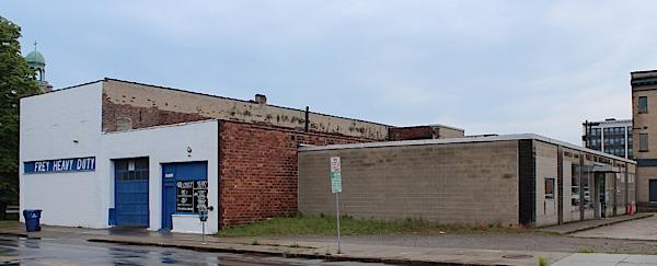 Uniland is planning to redevelop three parcels around the Frey the Wheelman site in Buffalo.