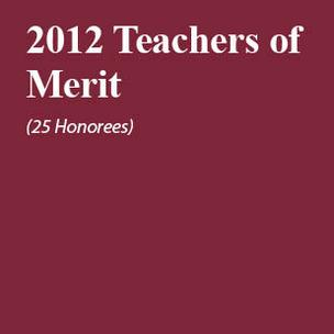 Meet this year's 25 Teachers of Merit