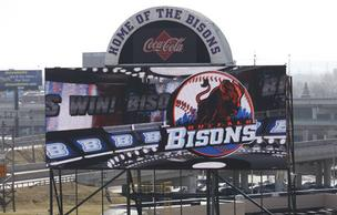 The Bisons have added a high-definition scoreboard for added entertainment at Coca-Cola Field.