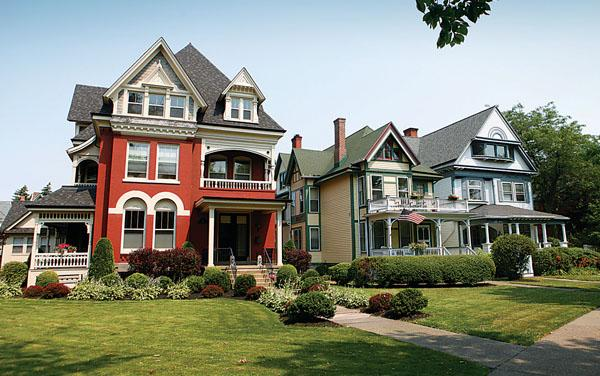 Seventy-one percent of the homes in Erie and Niagara counties – including these along Buffalo's Symphony Circle – were built prior to 1970.