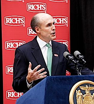 President and CEO William Gisel said an incentive package helped convince Rich Products Corp. to invest $18.45 million in an  innovation center.