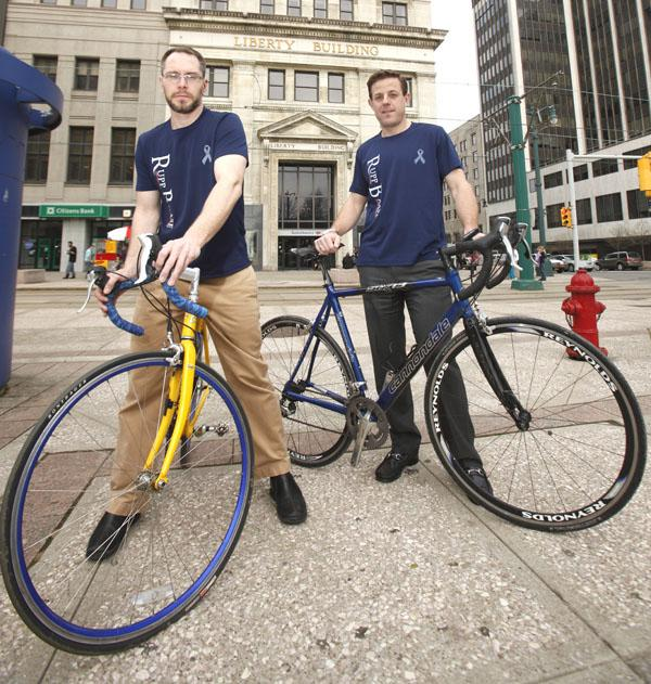 "Chuck Case, left, and David Pfalzgraf will be among the attorneys ""Riding for Roswell"" as part of the Rupp Baase team."