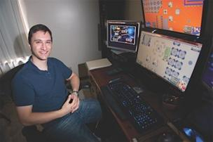 James McClellan's Stratheon was designed as a space battle strategy game to be played over a long period of time. He said he has earned a little less than $100 a month from players over eight months.