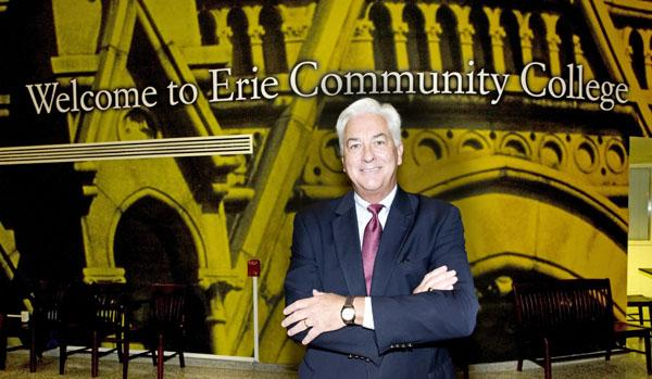 Jack Quinn, president of Erie Community College, says he is seeing increased enrollment. He attributes it in part to economic condtions.