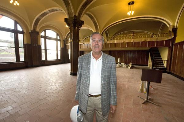 Developer Rocco Termini estimates the cost of renovating the former Hotel Lafayette to be $42 million.