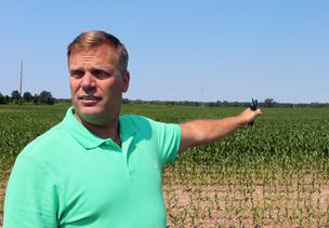 Standing off of Crosby Road in the Town of Alabama, Genesee County Economic Development Center President Steve Hyde shows off some of the 1,340-acres of farmland that he hopes will be transformed into the Stamp Park, a Western New York home for nano-technology development.