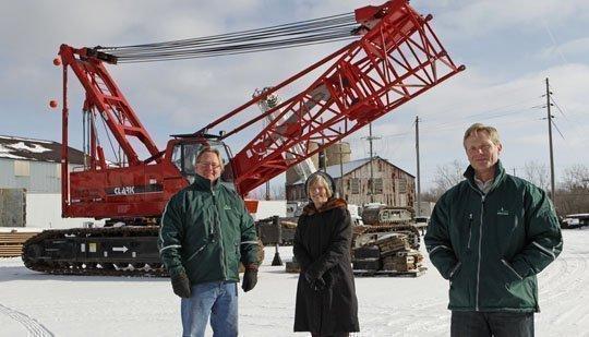 Steve Clark, left, Diane Bielinski and Dave Clark run the family business in Lockport.