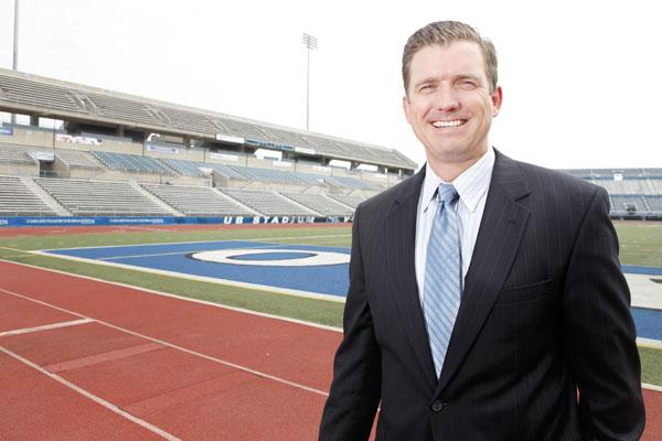 Daniel White wants to explore premium seating at UB Stadium. Selling those seats would contribute to funding for a fieldhouse, which could help the university recruit athletes.