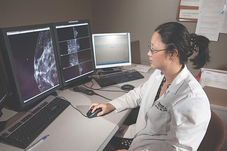 Dr. X. Cynthia Fan directs Windsong's tomosynthesis program, which was upgraded with 3-D mammography at all four of its imaging sites.