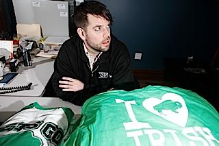 Talkin' proud: Celebrate Buffalo was founded in 2007 in the offices of Tour City in the Elmwood Village. It has gone on to sell more than 500,000 items, including T-shirts that signify pride in the city and its history. Sean Lafferty is sales and marketing director.