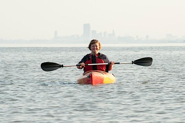 Joanne England kayaks both on Lake Erie and when she's out of town.