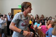 Olympic soccer star Abby Wambach attended Wednesday's Kids' Health Goes Gold event promoting a local initiative for children's health issues.