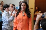 Olympic gymnastics star Aly Raisman attended Wednesday's Kids' Health Goes Gold event promoting a local initiative for children's health issues.