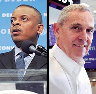 Mayor Anthony Foxx, left, and aviation director Jerry Orr have differing opinions on how the airport should be governed.