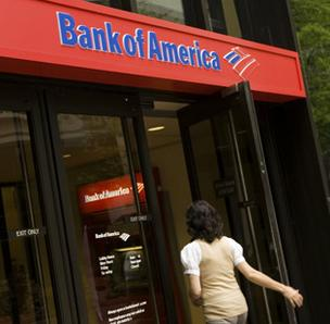 Bank of America's Web site went down on Friday, leaving many customers angry after being unable to conduct online banking on the first day of the month,