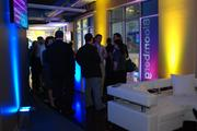 Bloomberg held a reception Tuesday evening for Al Hunt, its Washington editor, at the news organization's DNC space in the EpiCentre.