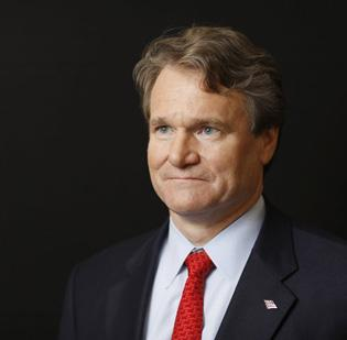 Bank of America CEO Brian Moynihan has settled his company's dispute with MBIA.