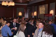 Attendees arrive early for Charlotte Business Journal events for networking.