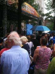 A crowd gathers by the main stage at Monday's CarolinaFest.