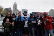 Tailgaters get ready before Sunday's Carolina Panthers game against the Tampa Bay Buccaneers.