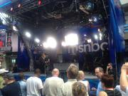 National news organization MSNBC has a studio set up in uptown Charlotte's EpiCentre complex.