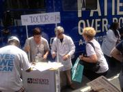 Patients Over Politics had a booth at Monday's CarolinaFest.