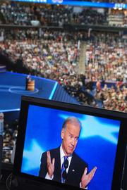 Vice President Joe Biden addresses the nation from Time Warner Cable Arena in Charlotte on Thursday, the final night of the DNC. Click here for more on the convention's conclusion.