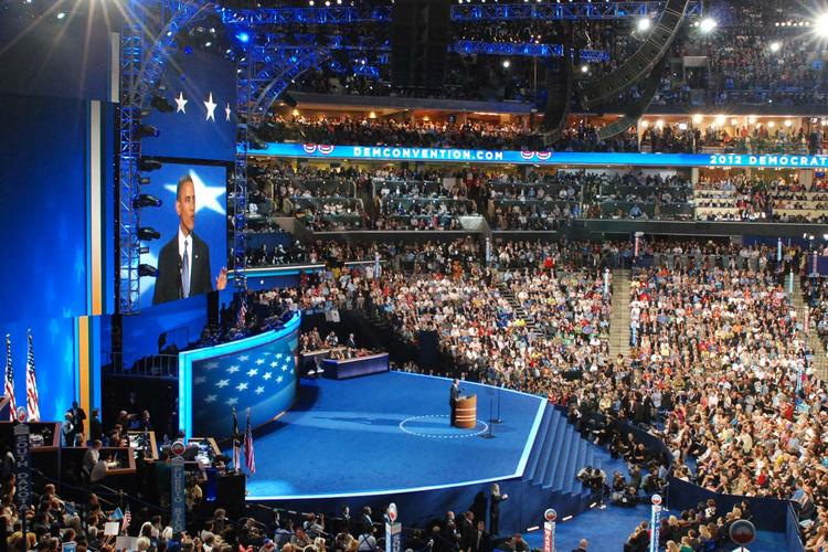 The Democratic National Convention was held in Charlotte during the first week of September.