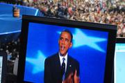 President Obama addresses the nation from Time Warner Cable Arena in Charlotte on the final night of the DNC.