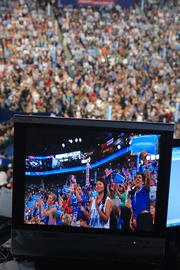 A pumped-up crowd fills Charlotte's Time Warner Cable on Thursday, the final night of the Democratic National Convention.