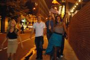 Convention-watchers pour into the streets of uptown Charlotte following the conclusion of the DNC on Thursday.