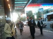 Day two of the Democratic National Convention provided much better weather for uptown revelers.